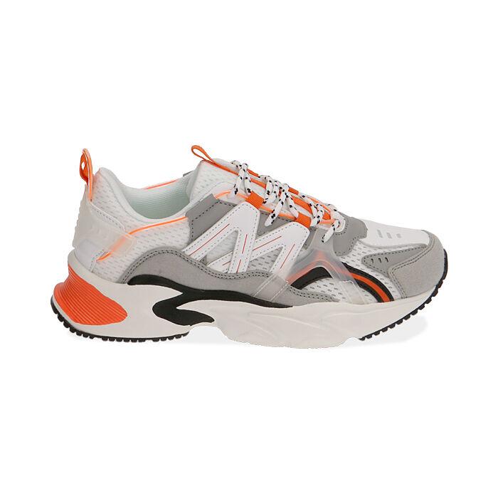 Sneakers bianco/arancio, Scarpe, 17E900045EPBIAC035
