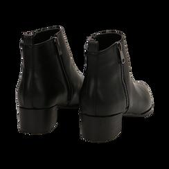 Camperos neri in eco-pelle , tacco 4,5 cm , Stivaletti, 144820534EPNERO036, 004 preview