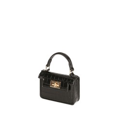 Mini bag nera stampa cocco , Primadonna, 165123042CCNEROUNI, 002a