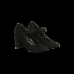 Décolleté Mary Jane nere, tacco 10 cm, Scarpe, 124912022MFNERO, 002 preview