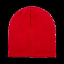 Berretto invernale rosso in tessuto con strass, Saldi Abbigliamento, 12B490741TSROSSXXL, 003 preview