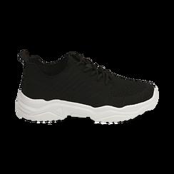 Sneakers nere in tessuto , Primadonna, 159701163TSNERO036, 001 preview