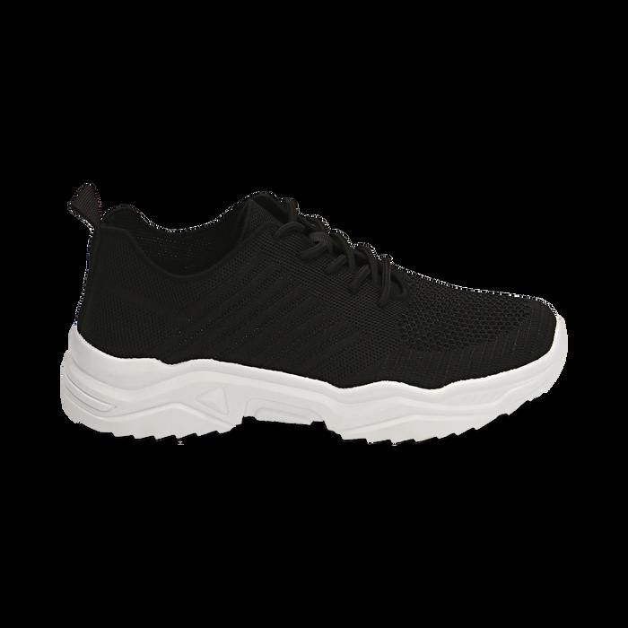 Sneakers nere in tessuto , Primadonna, 159701163TSNERO036