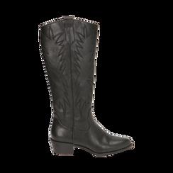 Camperas negras, tacón 4,5 cm, Zapatos, 170550211EPNERO035, 001 preview