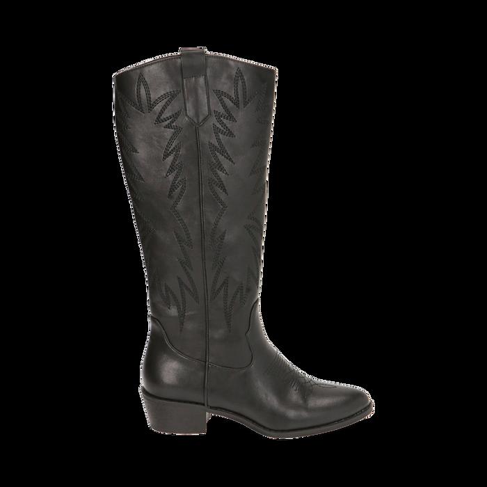 Camperas negras, tacón 4,5 cm, Zapatos, 170550211EPNERO035