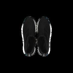 Sneakers trainer nere con suola super light, Scarpe, 129367111MFNERO, 004 preview