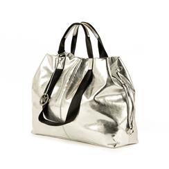Maxi-sac argent laminé, Primadonna, 172392506LMARGEUNI, 004 preview