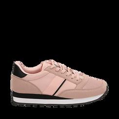 Sneakers nude in tessuto tecnico , Scarpe, 142619079TSNUDE036, 001a