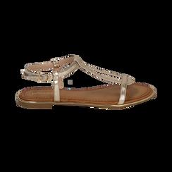 Sandali oro in laminato, SALDI, 154985238LMOROG039, 001 preview