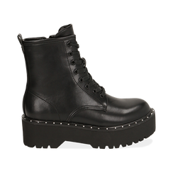 Bottines noir, platform 5,5 cm, Primadonna, 160622521EPNERO035, 001 preview