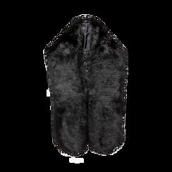 Coprispalla in eco-pelliccia nera, Saldi, 12B414001FUNERO, 001 preview