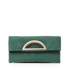 Pochette estensibile verde in microfibra, Borse, 145108714MFVERDUNI, 001a