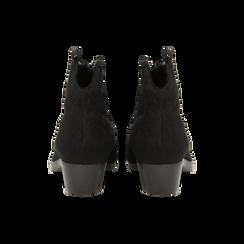 Stivaletti camperos neri in cavallino, tacco 4,5 cm, Primadonna, 12A403988CVNERO036, 003 preview