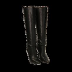 Stivali neri, tacco 10,50 cm , Primadonna, 162146862EPNERO035, 002a