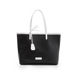 Maxi bag nero/bianca in eco-pelle, Primadonna, 133764106EPNEBIUNI, 001 preview