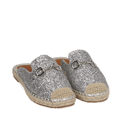 Slippers argento glitter, Primadonna, 154951159GLARGE035, 002a