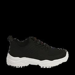 Sneakers nere in tessuto , Primadonna, 159701163TSNERO036, 001a