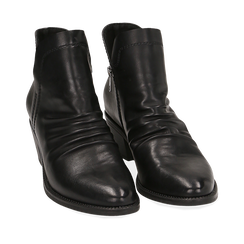 Botines en eco piel color negro, tacón 4,50 cm, Primadonna, 150693110EPNERO035, 002a