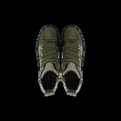 Sneakers verdi in velluto con stelle, Scarpe, 121617684VLVERD, 004 preview