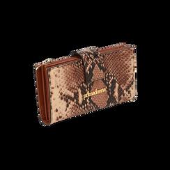 Portafogli marrone stampa pitone, Primadonna, 165122158PTMARRUNI, 002 preview