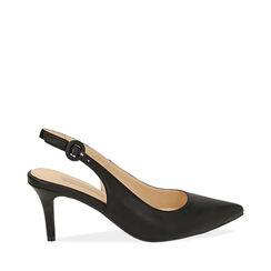 Slingback negro, tacón 7 cm, Zapatos, 172133673EPNERO035, 001a