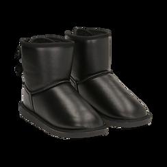 Stivali neri in eco-pelle, Stivaletti, 149916015EPNERO036, 002 preview