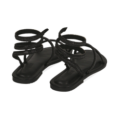 CALZATURA FLAT MICROFIBRA PIETRE NERO, Chaussures, 154928863MPNERO036, 004 preview