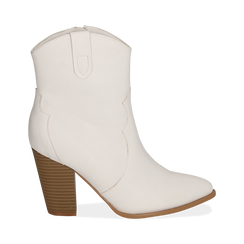 Camperos bianchi, tacco 9 cm, Primadonna, 154930037EPBIAN040, 001a