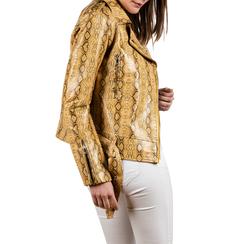 Biker jacket gialla stampa cocco, Abbigliamento, 156501164CCGIAL, 002 preview