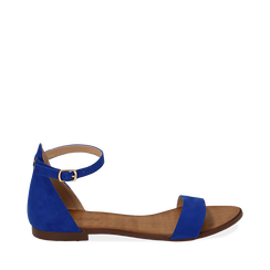 Sandali blu cobalto in microfibra, 154903091MFBLCO035, 001a