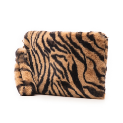 Pochette tigrata in eco-fur, Borse, 14B443016FUTIGRUNI, 004 preview