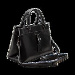 Mini-bag nera in ecopelle, Primadonna, 121818007EPNEROUNI, 003 preview