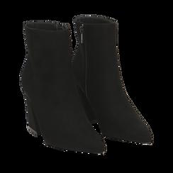Ankle boots neri, tacco trapezio 8,5 cm , Stivaletti, 144961020MFNERO035, 002a