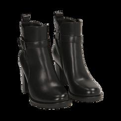 Ankle boots neri, tacco 8 cm , Primadonna, 163066173EPNERO036, 002 preview