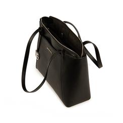Maxi-bag nera in eco-pelle, Primadonna, 155768941EPNEROUNI, 004 preview