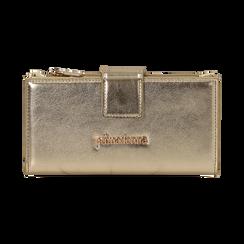 Portefeuille doré en simili-cuir brillant, Sacs, 155122158LMOROGUNI, 001 preview