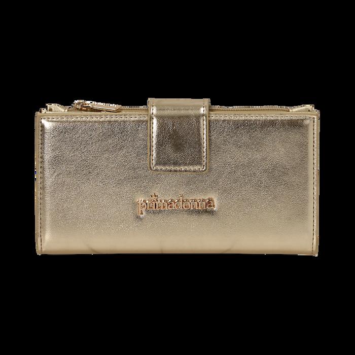 Portefeuille doré en simili-cuir brillant, Sacs, 155122158LMOROGUNI