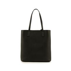 Shopper nera in eco-pelle, Primadonna, 153782784EPNEROUNI, 003 preview