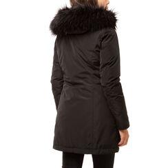 Parka acolchado negro con capucha en tejido, Primadonna, 168500598TSNEROL, 002 preview