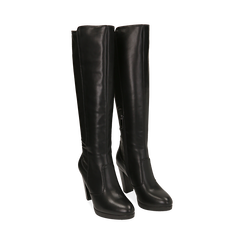 Stivali neri, tacco 9,50 cm , Primadonna, 160619077EPNERO035, 002 preview