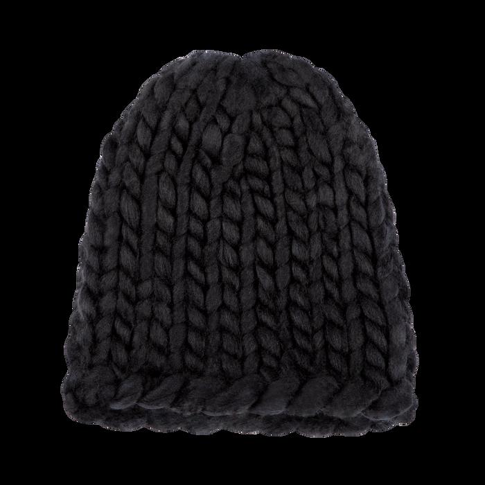 Berretto invernale nero in tessuto filato XL, Saldi Abbigliamento, 12B444008TSNEROXXL
