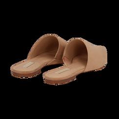 Mules flat nude in microfibra con punta affusolata, Scarpe, 134921861MFNUDE036, 004 preview