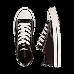 Sneakers nere in canvas, Scarpe, 137300862CANERO035, 003 preview