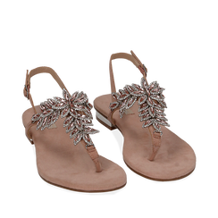 CALZATURA FLAT MICROFIBRA NUDE, Chaussures, 154997015MFNUDE036, 002a