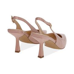 Slingback nude en verni, talon 8 cm, Chaussures, 174823795VENUDE037, 004 preview