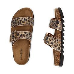 Ciabatte leopardate con strass, Primadonna, 174701113ETLEOP036, 003 preview