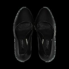 Décolleté nere con plateau, tacco quadrato 13,5 cm, Scarpe, 122103011EPNERO, 004 preview