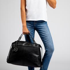 Maxi-bag nera in ecopelle, Primadonna, 122901475EPNEROUNI, 007 preview