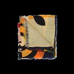 Pashmina gialla in tessuto con stampa Seventies, Abbigliamento, 14B491016TSGIALUNI, 001 preview