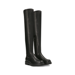Stivali sopra il ginocchio neri, tacco 3,5 cm, Scarpe, 120681516EPNERO037, 002 preview